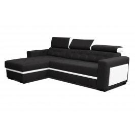 Rohová sedačka Felix (čierna + biela) (L)