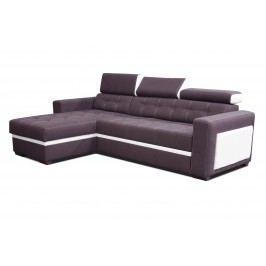 Rohová sedačka Felix (fialová + biela) (L)