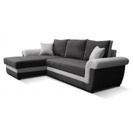 Rohová sedačka Rony L+2F (čierna + sivá) (L)