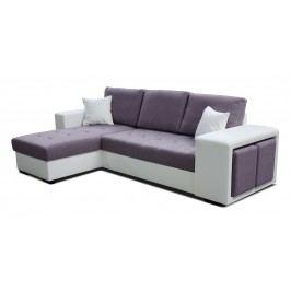Rohová sedačka Thema Lux L+2F (fialová + biela) (L)