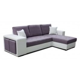 Rohová sedačka Thema Lux 2F+L (fialová + biela) (P)