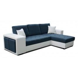 Rohová sedačka Thema Lux 2F+L (modrá + biela) (P)