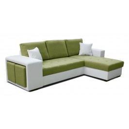 Rohová sedačka Thema Lux 2F+L (zelená + biela) (P)