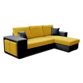 Rohová sedačka Thema Lux 2F+L (žltá + čierna) (P)