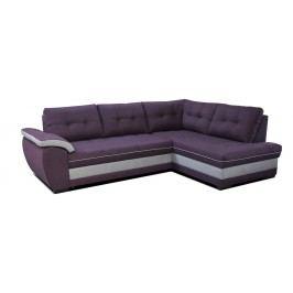Rohová sedačka Aruba 2F+L (fialová + sivá) (P)