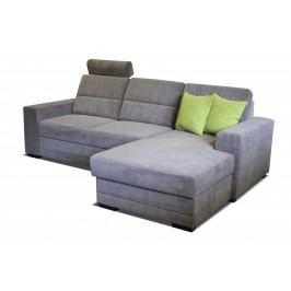 Rohová sedačka Nelson 2F+L (sivá + zelené vankúše) (P)
