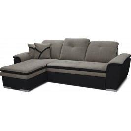 Rohová sedačka Estevan L+2F (sivá + čierna) (L)