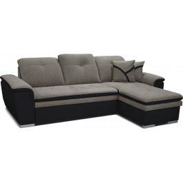 Rohová sedačka Estevan 2F+L (sivá + čierna) (P)