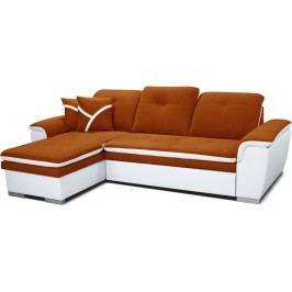 Rohová sedačka Estevan L+2F (oranžová + biela) (L)
