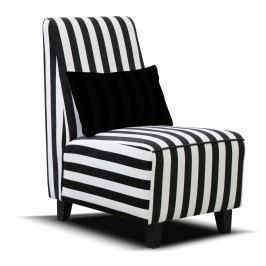 Kreslo Riva (čierna + biela) (drevené nohy)