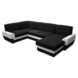 Rohová sedačka U Simona 1+A+2+L (čierna + biela) (P)