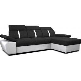 Rohová sedačka Logan 2L (čierna + biela) (P)