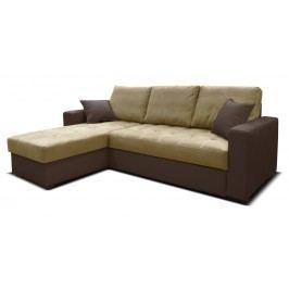 Rohová sedačka Faro L+2F (béžová + hnedá) (L)