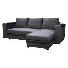 Rohová sedačka Bono (tmavosivá + čierna) (P)