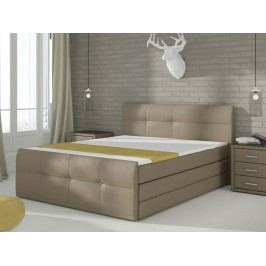 Manželská posteľ Boxspring 160 cm Palermo (s matracmi a úl. priestorom)