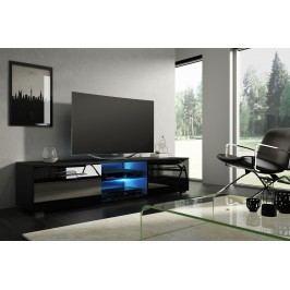 TV stolík/skrinka Moon (čierna + lesk čierny)
