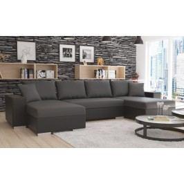 Rohová sedačka U Estevan (čierna + sivá) (L)