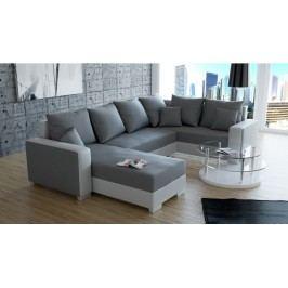 Rohová sedačka U Palio (biela + sivá) (L)