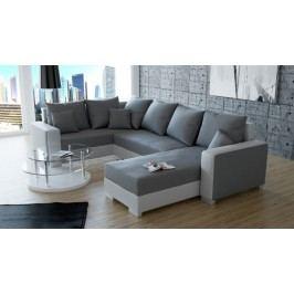 Rohová sedačka U Palio (biela + sivá) (P)
