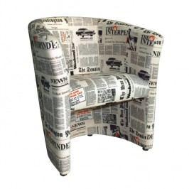 Kreslo Cuba vzor noviny