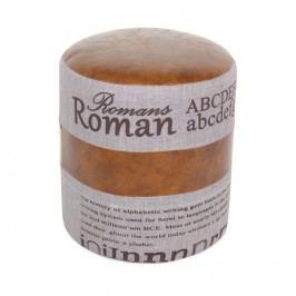 Taburetka Roman 1 sivá + hnedá koža
