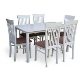 Jedálenský stôl Astro 110 cm biela (pre 4 osoby)