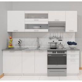 Kuchyňa Fabiana 240 cm biela
