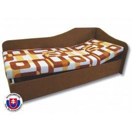 Jednolôžková posteľ (váľanda) 80 cm Anita (Gusto 11 + Hnedá 13) (P)
