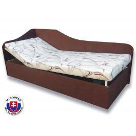 Jednolôžková posteľ (váľanda) 80 cm Anita (Sand 10 + Tmavohnedá 40) (L)