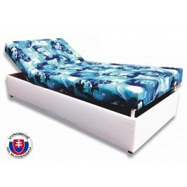 Jednolôžková posteľ (váľanda) 90 cm Darina (Biela koženka + Elvis 2)