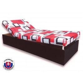 Jednolôžková posteľ (váľanda) 90 cm Darina (Čierna 39 + Otawa 1)