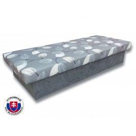 Jednolôžková posteľ (váľanda) 80 cm Jana 10 (Sivá 81 + Melody 14)
