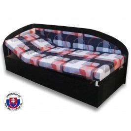 Jednolôžková posteľ (váľanda) 80 cm Kamila (Čierna 39 + Mimi 21) (L)