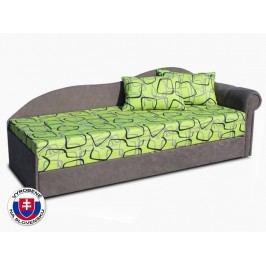 Jednolôžková posteľ (váľanda) 70 cm Luxus II (Sivá 81 + Dodo 1027) (P)