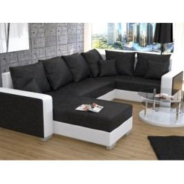 Rohová sedačka U Palio (biela + čierna) (P)