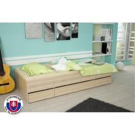 Jednolôžková posteľ 90 cm Matiasi (dub sonoma)