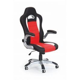 Kancelárske kreslo Lotus (čierna + červená)