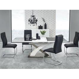 Jedálenský stôl Sandor 2 (čierna + biela) (pre 6 až 8 osôb)