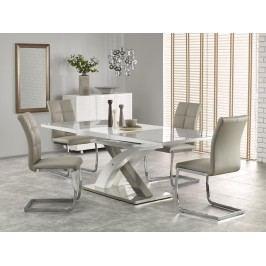 Jedálenský stôl Sandor 2 (sivá + biela) (pre 6 až 8 osôb)