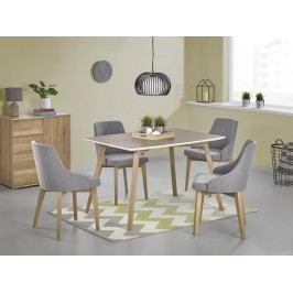 Jedálenský stôl Petrus (dub sonoma + biela) (pre 4 osoby)
