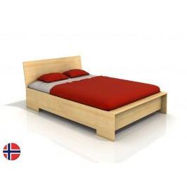 Manželská posteľ 160 cm Naturlig Lekanger High (borovica) (s roštom)