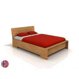 Manželská posteľ 180 cm Naturlig Lekanger High (buk) (s roštom)