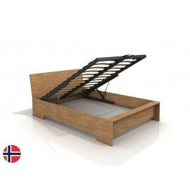 Manželská posteľ 160 cm Naturlig Lekanger High BC (buk) (s roštom)