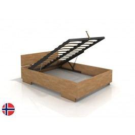 Manželská posteľ 200 cm Naturlig Larsos High BC (buk) (s roštom)