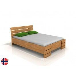 Manželská posteľ 160 cm Naturlig Lorenskog High (buk) (s roštom)