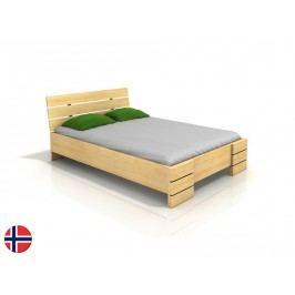 Manželská posteľ 200 cm Naturlig Lorenskog High BC (borovica) (s roštom)
