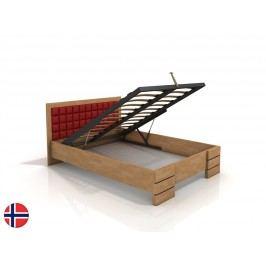 Manželská posteľ 160 cm Naturlig Storhamar High BC (buk) (s roštom)