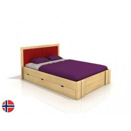 Manželská posteľ 200 cm Naturlig Manglerud High Drawers (borovica) (s roštom)