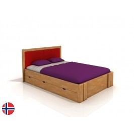 Manželská posteľ 200 cm Naturlig Manglerud High Drawers (buk) (s roštom)