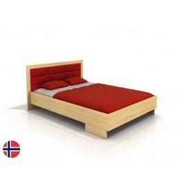 Manželská posteľ 200 cm Naturlig Stjernen High (borovica) (s roštom)